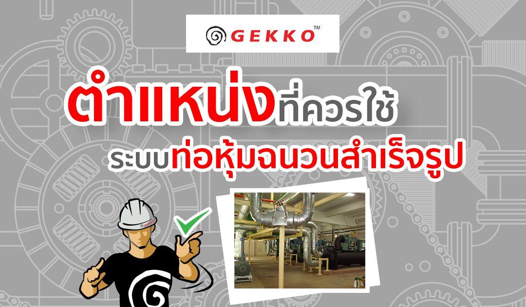 ตำแหน่งที่ควรใช้ระบบท่อหุ้มฉนวนสำเร็จรูป I Gekko